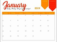January 2019 Calendar Template [Download] March 2019