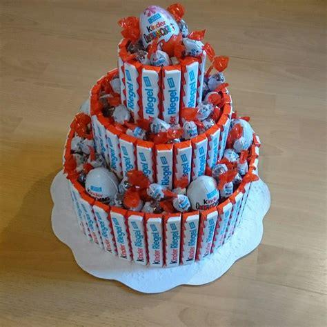 torte aus kinderschokolade kinder schokolade torte birthday diy ideas