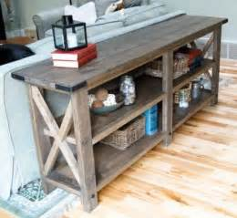ana white build a rustic x console free and easy diy