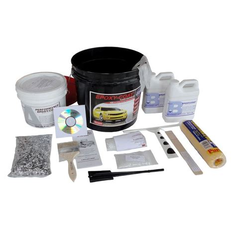 Epoxy Kit by Shop Epoxy Coat 2 Part Taupe High Gloss Epoxy Garage Floor
