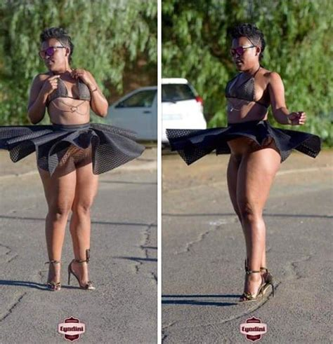 Zodwa At It Again Exposes Her Body In Public Tumfweko