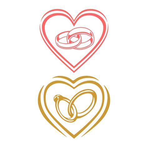 heart wedding rings cuttable design