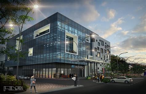 Offices And Car Showroom Building