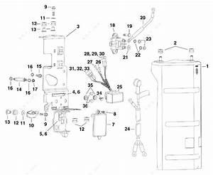 Evinrude 2010 250 -  90 Deg V6  3 3 L  - E250dplisf  Electrical Bracket  U0026 Components