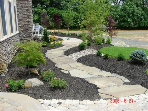 front walkway plant ideas ideas creative landscaping ideas for front of house with stone walkway and gravel plus small plants