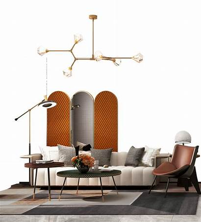 Living Interior Mood Board Furniture Mid Century