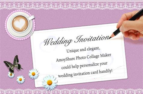 create wedding invitation card  amoyshare pcm