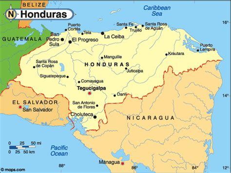colon honduras map