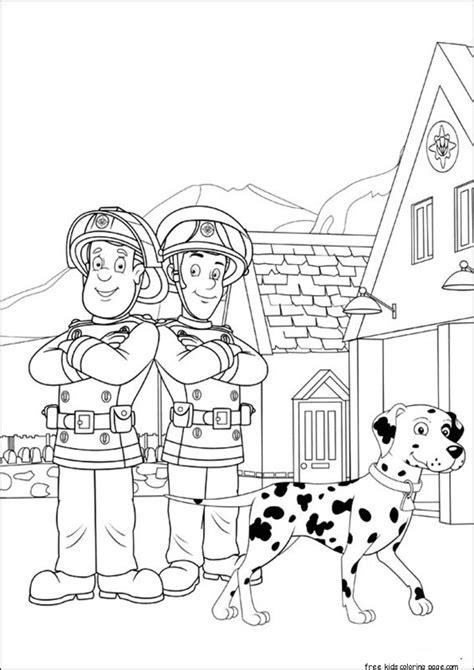 fireman sam  elvis printable coloring pagesfree