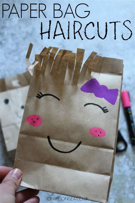 paper bag haircuts  cute scissor skills craft paper
