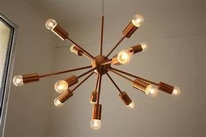 Lustre En Cuivre : le grand retour du lustre en cuivre luminaires design luminaires design ~ Teatrodelosmanantiales.com Idées de Décoration