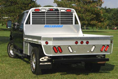 series aluminum truck bed extruded floor hillsboro trailers  truckbeds