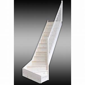 Escalier Double Quart Tournant Pas Cher : escalier quart tournant bas droit deva structure bois ~ Premium-room.com Idées de Décoration