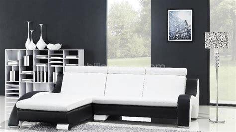 canapé angle noir et blanc photos canapé d 39 angle cuir blanc et noir