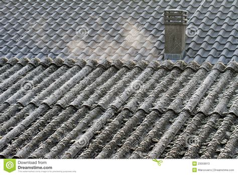 asbestos roof eternit stock image image  roof