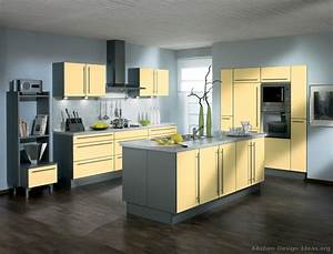 yellow kitchens cottage kitchens yellow and gray grey and With kitchen cabinets lowes with yellow grey wall art