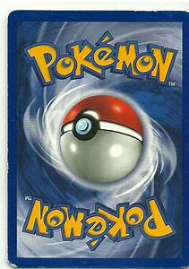 Back Of A Pokemon Card Google Search Pokemon Cards