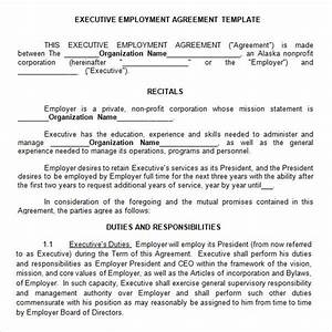 executive agreement 9 download free documents in pdf word With ceo employment contract template