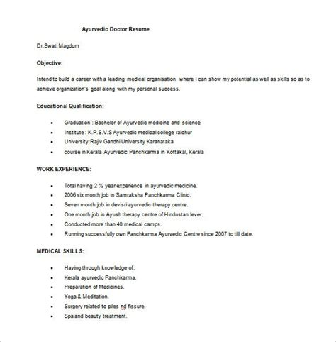 Doctor Resume by Doctor Mbbs Resume