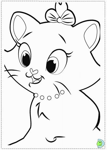 Coloring Cat Marie Pages Dinokids Pushin Clipart