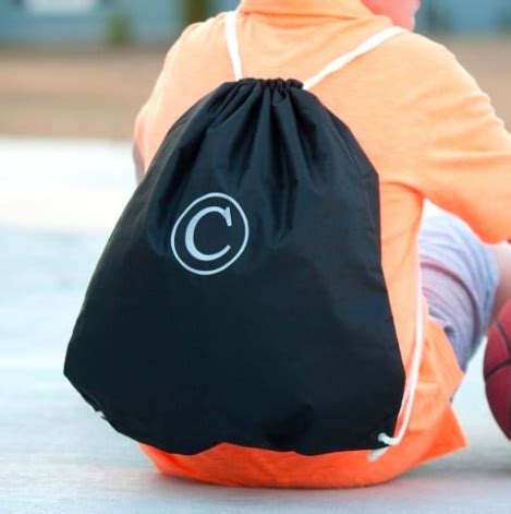 monogrammed drawstring gym bag  colors personalization included initial styles jupiter