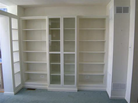 Ikea Bookcases And Shelves by Custom Display Wall Using Ikea Billy Bookcases Heartwork