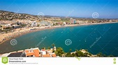 Costa Del Azahar, Peniscola, Spain Stock Photo - Image of ...