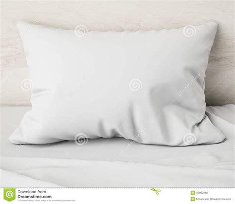 white pillow   bed background stock illustration