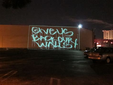 la street artists stage laser light protest of censorship