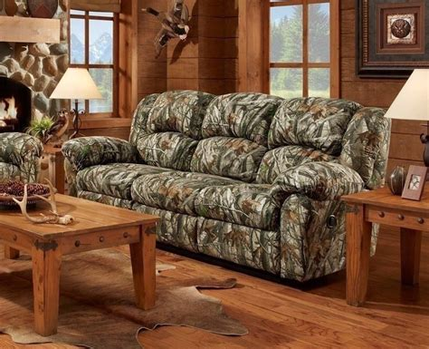 mossy oak camouflage reclining sofa hunting lodge couch living room furniture ebay