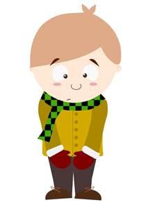 Shy Boy Cartoon Characters