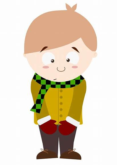 Shy Clipart Boy Cartoon Kid Transparent Child