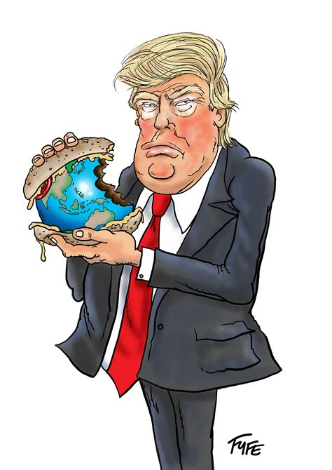 donald trump caricature andrew fyfe cartoonist