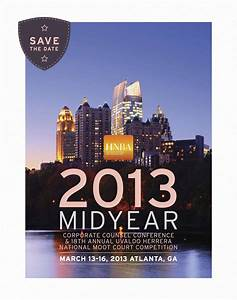 save the date card for the 2013 mid year corporate counsel With conference save the date template