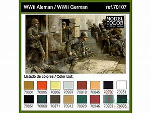 Tamiya Acrylic Color Chart Vallejo Acrylics 70 107 Modelcolor Set German Army W W