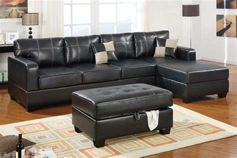 black leather sectional with ottoman small black leather sectional sofa dobson black leather