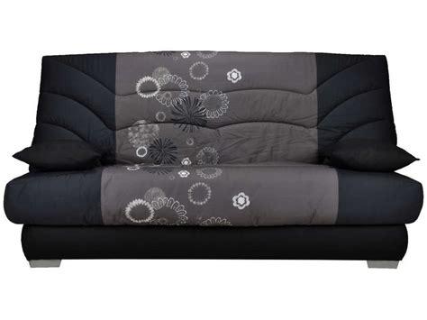 housse canapé noir housse pour clic clac 140 cm prima maori coloris gris