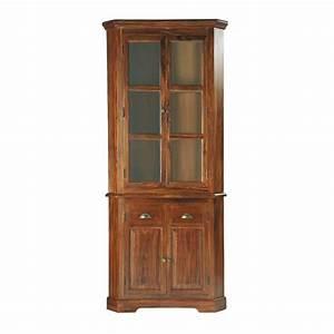 meuble d39angle en bois de sheesham massif l 90 cm luberon With meuble d angle maison du monde