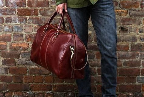 mens leather duffel bags  travel