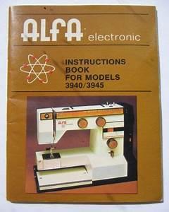 Alfa 3940 Instructions Book  Sewing Machine
