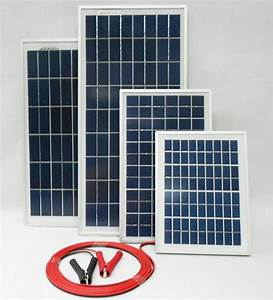 15w 20w 25w Solar Panel For 12v Battery W 4m Cable Block