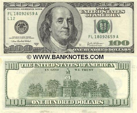 United States Of America 100 Dollars 2003