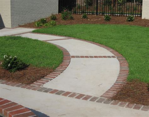 brick and concrete walkway brick concrete stone