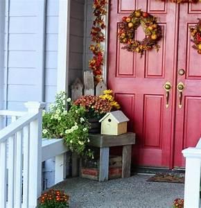 Türen Für Draußen : herbst deko drau en haus eingang t rkranz fr chte autumn ~ Lizthompson.info Haus und Dekorationen
