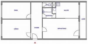 Dispozice panelového bytu 3+1