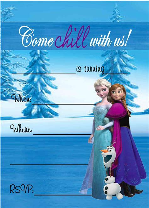 heartwarming frozen birthday invitations