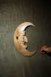 Moon Man Wood Carving