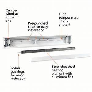 Cadet 1500w 120v 5120 Btu 72 U0026quot  Baseboard Heater In Almond
