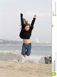 Child Jumping For Joy Royalty Free Stock Photography ...