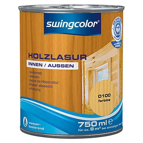 swingcolor holzlasur farblos  ml seidenmatt bauhaus